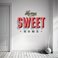 Home Sweet Home Decorating Vinyl Sticker