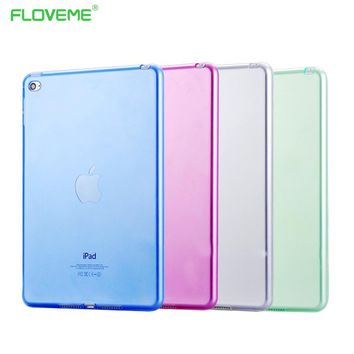 FLOVEME 7.9'' Mini4 Transparant Slim Thin Cover for Apple iPad Mini 4 Case Soft Silicone Gel Crystal Clear Back Funda Cases