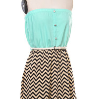 Belted Chrevron and Mint Dress