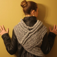 The original Katniss cowl vest scarf shawl look / Hunger Games Catching Fire / MADE TO ORDER