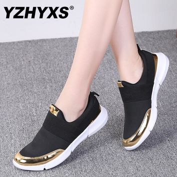 YZHYXS women casual shoes slip on flat walking sneakers mesh breathable comfort ladies loafers light weight jogging shoes