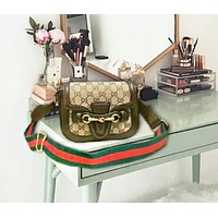 Gucci New Fashion Women More Letter Leather Crossbody Satchel Leisure Shoulder Bag