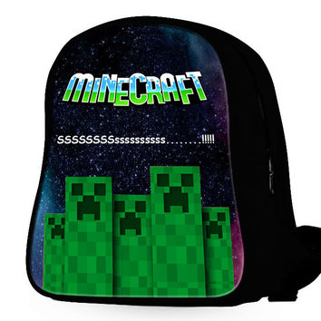Minecraft Creepers Galaxy Backpack