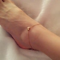Sexy Women Elegant Anklet Foot Jewelry Heart Ankle Chain Bracelet