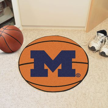 "Michigan Basketball Mat 27"" diameter"