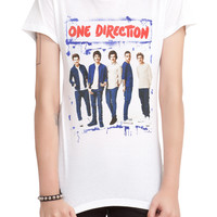 One Direction Blue Spray Paint Girls T-Shirt