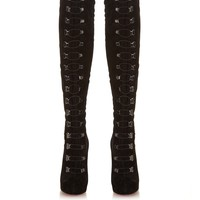 Top Croche over-the-knee suede boots | Christian Louboutin | MATCHESFASHION.COM US