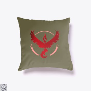 Team Valor And Proud, Pokemon Throw Pillow Cover