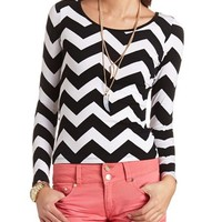 DOUBLE SCOOP LONG SLEEVE TOP
