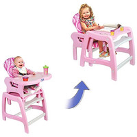 Walmart: Badger Basket - Envee Baby High Chair with Playtable Conversion, Pink