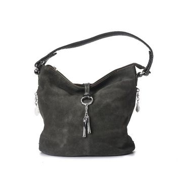 Split Leather Shoulder Female Suede Casual Crossbody handbag Casual  Hobo Bag