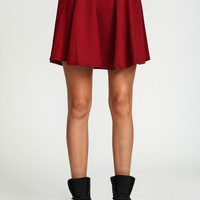 High Rise Scuba Knit Skirt