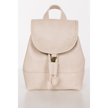Bring You Along Mini Rucksack Bag (Ivory)