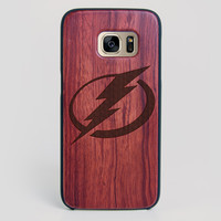 Tampa Bay Lightning Galaxy S7 Edge Case - All Wood Everything