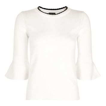 Scallop Trim Knitted Top - New In This Week - New In