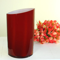 red glass vase hand blown glass vases made in Poland Makora red weddings handmade glass vases