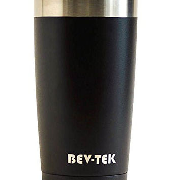 Bev-Tek Performance Pint - 20 Ounce Stainless Steel Travel Tumbler Cup with Lid for Coffee and Tea - Double Wall Vacuum Insulated Beer Mug with Black Matte Finish - Keeps Drinks Hot or Cold for Hours