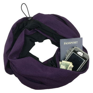ORIGINAL Convertible Infinity Scarf with Pocket | Plum