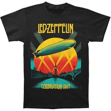 VONE05F Day First Led Zeppelin Men's Celebration Day Mens T T-shirt Black
