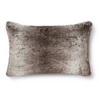 Faux Fur Oblong Pillow - Gray/Brown - Fieldcrest™