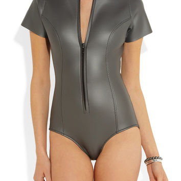 Lisa Marie Fernandez | The Farrah rubber neoprene swimsuit | NET-A-PORTER.COM