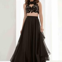Jasz Couture A Line Chiffon Dress 5607
