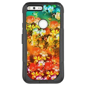 Abstract Flowers OtterBox Commuter Google Pixel XL Case