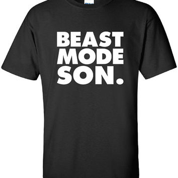 Beast Mode Son workout fitness boss funny wife boyfriend husband gift for him girlfriend T-Shirt Tee Shirt Mens Ladies Women Kids ML-350