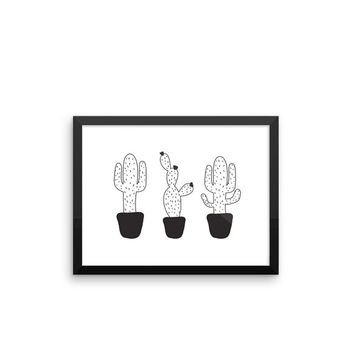 Cactus 4 | ART PRINT | A5/A4/A3/A2 - Scandinavian, Minimalist, Design Print, Graphic Design, Plants, Black and White, Illustration