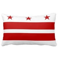 Washington D.C. flag, American state flag Pillow