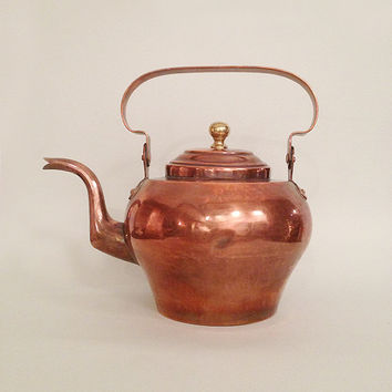 Very Large and Rare Vintage Copper Kettle - 6 Liters Kettle - 19th Century