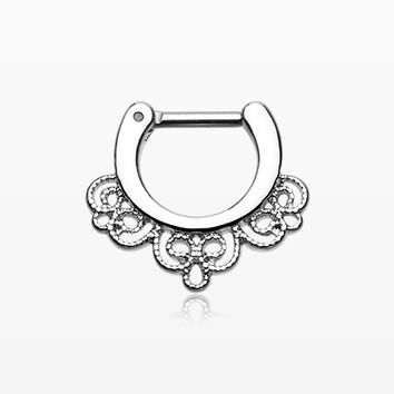 Florid Filigree Septum Clicker