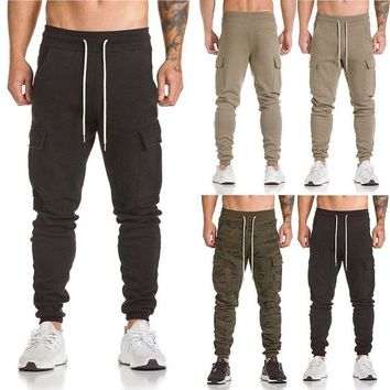 Mens Trousers Sweatpants Harem Cargo Pants Slacks Casual Jogger Sportwear Baggy