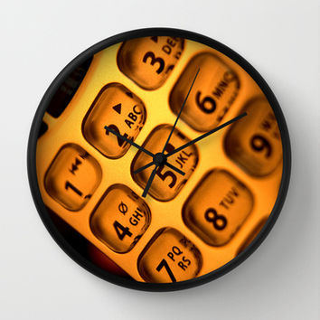 Phone keypad old school Wall Clock by Bruce Stanfield