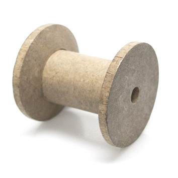 Empty Wooden Spools, Barrel, 2-inch