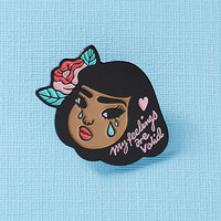 Lola Enamel Pin // My Feelings are Valid, crybaby pin, mental health, soft enamel pin, crying