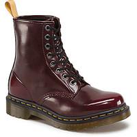 Dr. Martens Women's Vegan 1460 Combat Boots - Cherry Red