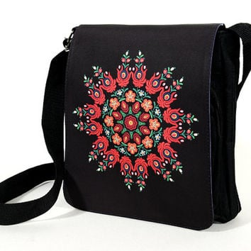 Mandala Bag - Hungarian Folk Embroidery Print Shoulder Bag