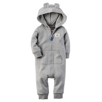 Carter's Raccoon French Terry Coverall - Baby Boy, Size: