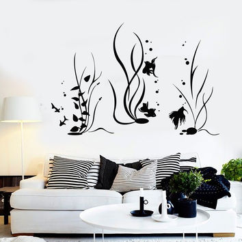 Vinyl Wall Decal Aquarium Fish Sea Ocean Marine Style Stickers Unique Gift (1004ig)