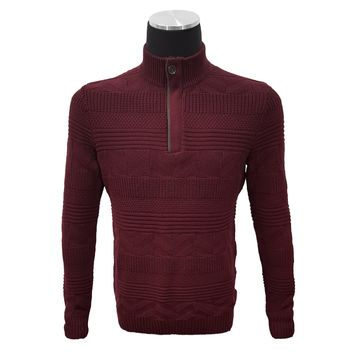 Tasso Elba Men's Quarter Zip Cotton Sweater