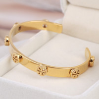 Tory Burch New fashion metal hollow opening bracelet Golden