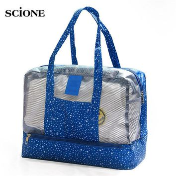 Women Swimming Bag Female Waterproof Swimsuit Bags Nylon Wet and Dry Transparent Swimwear Pool Beach Pouch Collection Bag X81WA