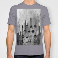 NEW!! Live The City Life T-shirt by Ally Coxon | Society6 (Also For Women - other colours available)