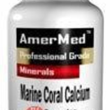 SHIP BY USPS: Okinawa Marine Coral Calcium - 90 Capsules Okinawa Marine Coral Calcium 3300 mg w/ Trace Minerals by AmerMed