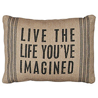 Primitives by Kathy Live The Life Decorative Pillow - Beige/Khaki
