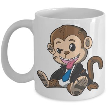 Fun Kid Mug Monkey Cup For Children White Bpa Free Chocolate Cookies Jar Coloring Marker Holder Drink Mugs For Cocoa Milk Juice Best Affordable Holiday Gift For Kids 2017 2018