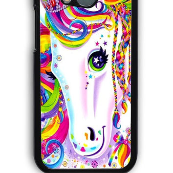 HTC One M8 Case - Hard (PC) Cover with Lisa Frank Majesty The Rainbow Horse Plastic Case Design