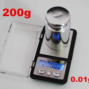 200g x 0.01g Electronic Precision Pocket Mini Digital LCD with backlight  Balance Weight Diamond Gram Jewelry Scale 12% off