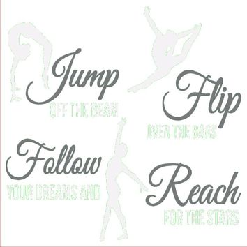 GYMNASTICS Flip Wall Decal